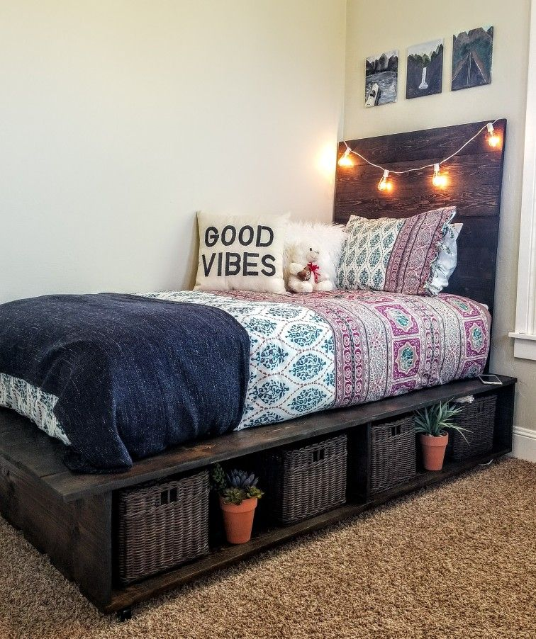 Twin Platform Bed With Tons Of Storage Underneath Made By My