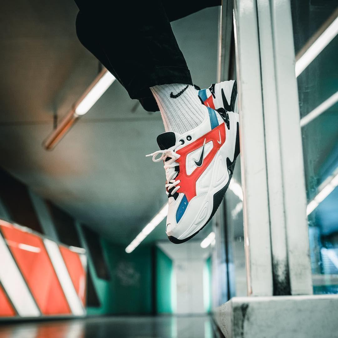 Nike M2K Tekno White Black Orange | Nike | Sneakers