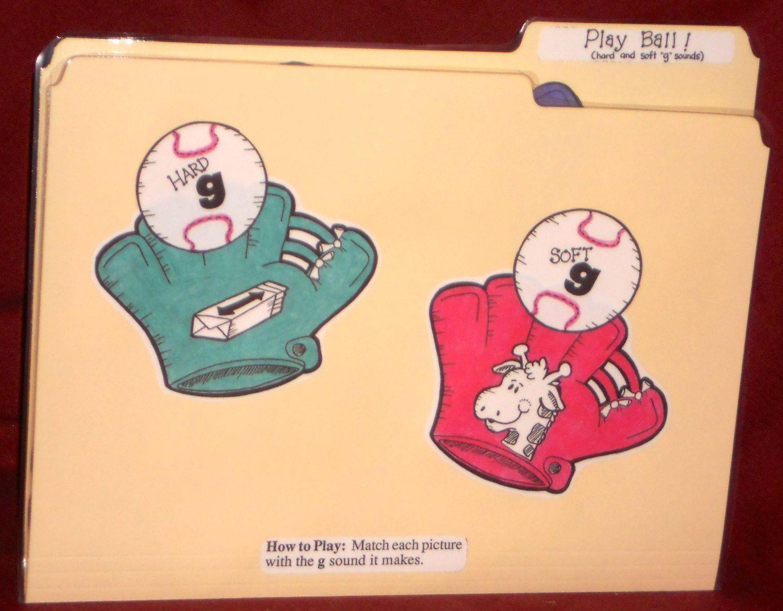 File Folder Game Hard Soft G Play Ball By