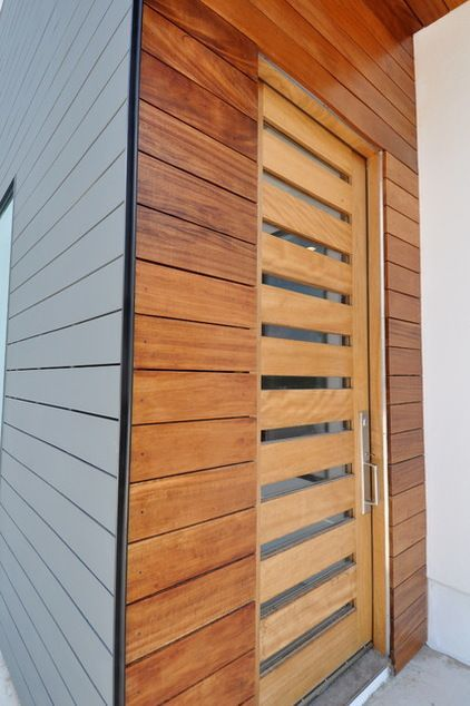 Exterior Doors  a contemporary style mahogany door & trim work ensure no one will be knocking anywhere else   Bayer Built Woodworks #woodworktrimwork Exterior Doors  a contemporary style mahogany door & trim work ensure no one will be knocking anywhere else   Bayer Built Woodworks #woodworktrimwork