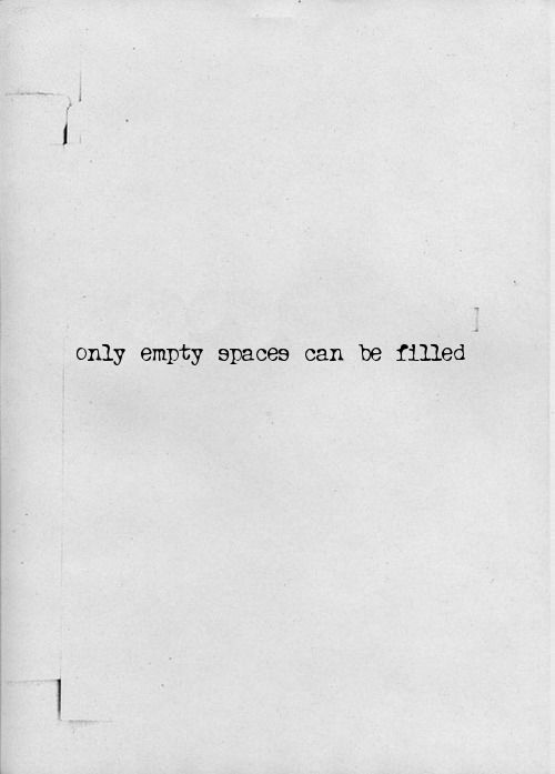 empty spaces ...