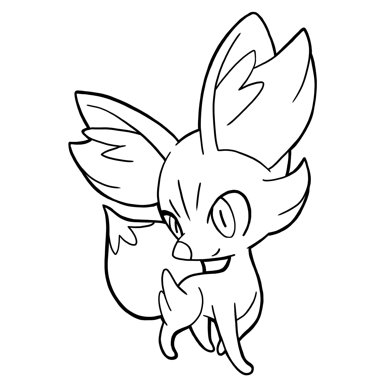 Pokemon Fennekin Coloring Pages