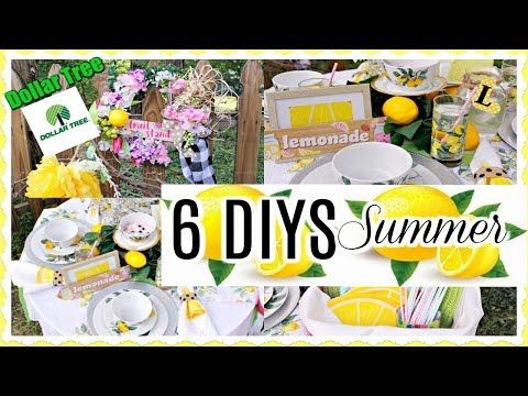 6 Diy Dollar Tree Summer Decor Crafts 🍋 Farmhouse Wreath
