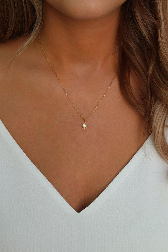 Photo of North Star Necklace – Polaris Necklace – Graduation Gift – Dainty Gold Chain …