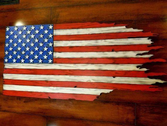 Wood Flag Tattered Flag Distressed Flag Wood By Burnedbyfate Wood Flag Wooden American Flag Rustic Flags