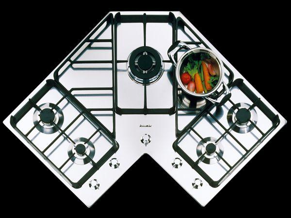 Piano cottura angolare #pianocottura http://www.arredamento.it ...