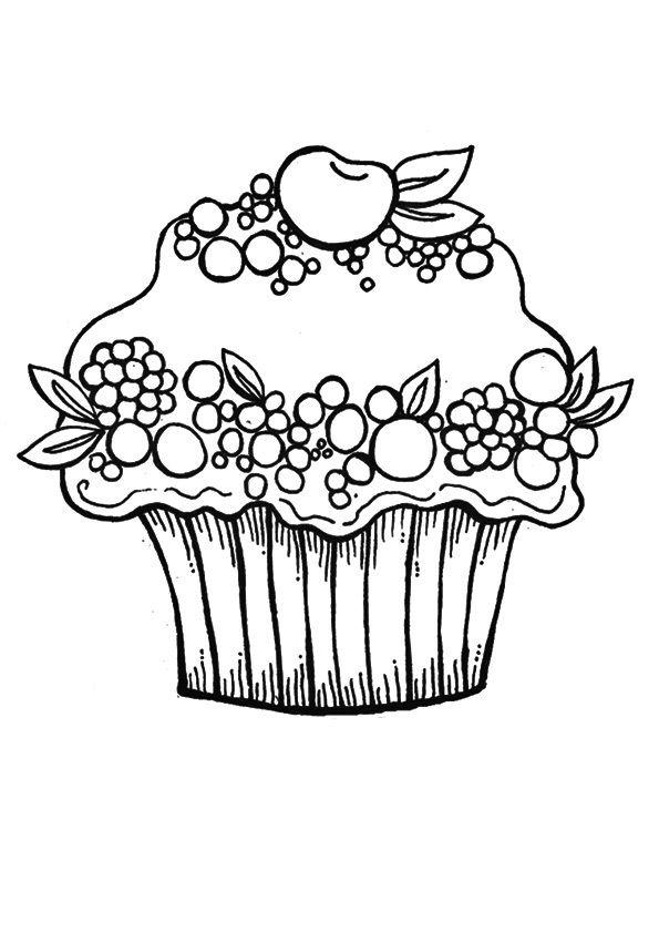 Print Coloring Image Momjunction Cupcake Coloring Pages Valentine Coloring Pages Free Coloring Pages