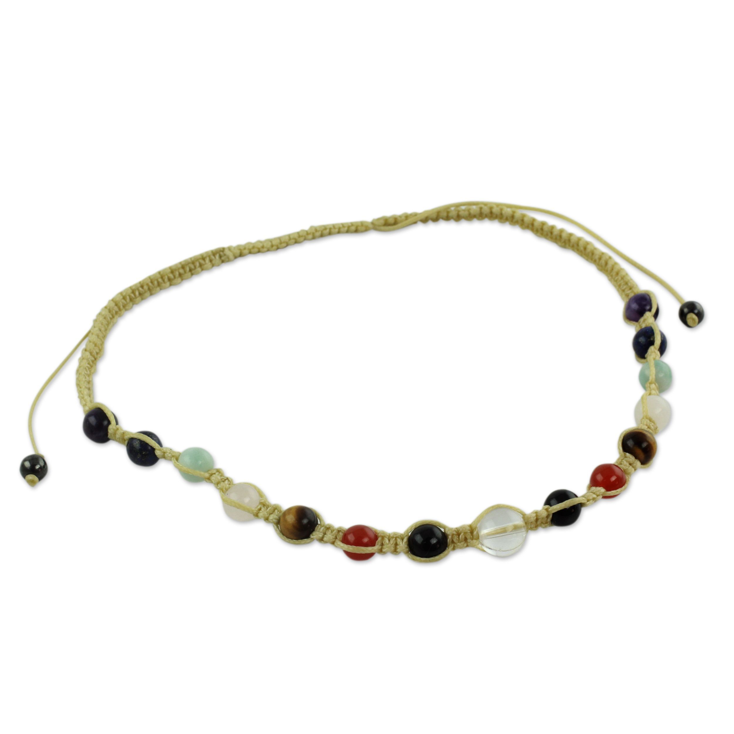 Novica Handcrafted -gemstone 'Well-being' Chakra Necklace