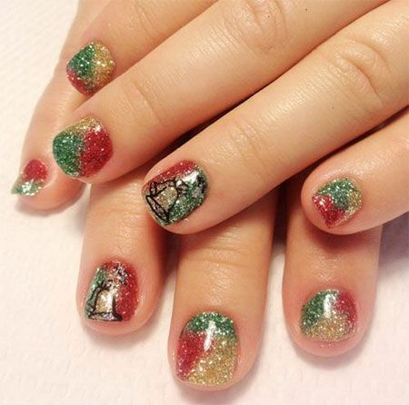 Easy Christmas Nail Art Designs Ideas 2013 2014 X Mas Nails 1 Easy