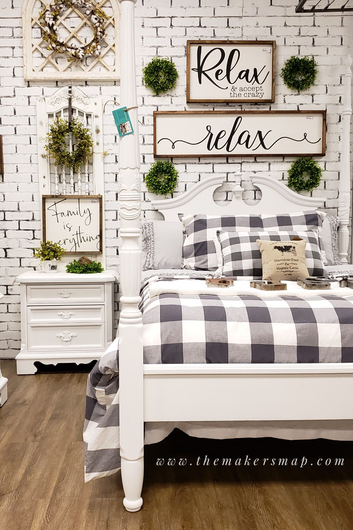 Farmhouse Style Interior Staging Painted Bedroom Furniture Faux