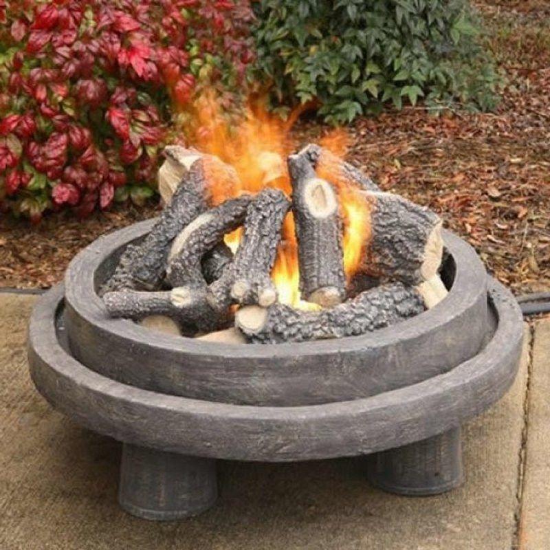 24 Sierra Birch Ceramic Gas Log Set For Fire Pits Rustic Fire Pits Rectangular Fire Pit Fire Pit