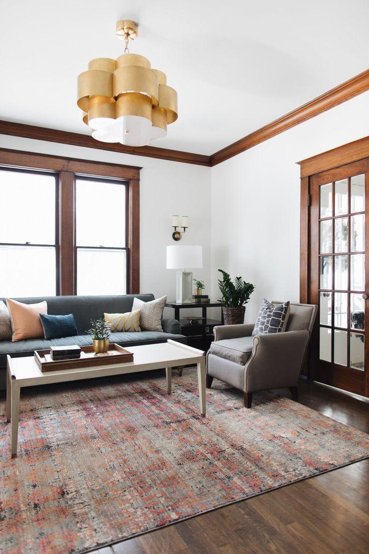 home decor living room | Home living room, Dark wood trim ...