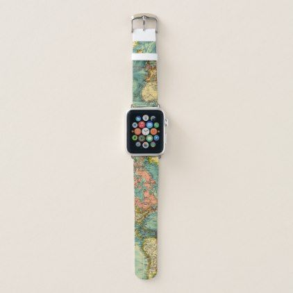 World Map Featuring United States Apple Watch Band