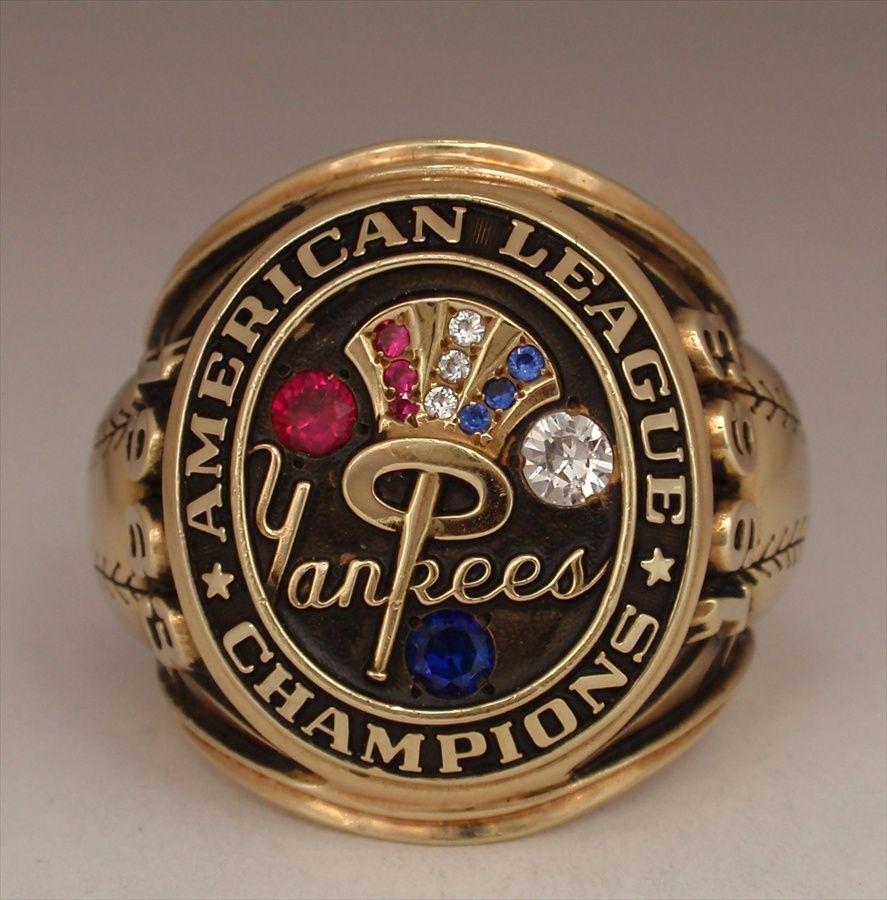 1963 New York Yankees World Series American League Champions 14k Gold Real Ring Yankees World Series New York Yankees New York Yankees Baseball