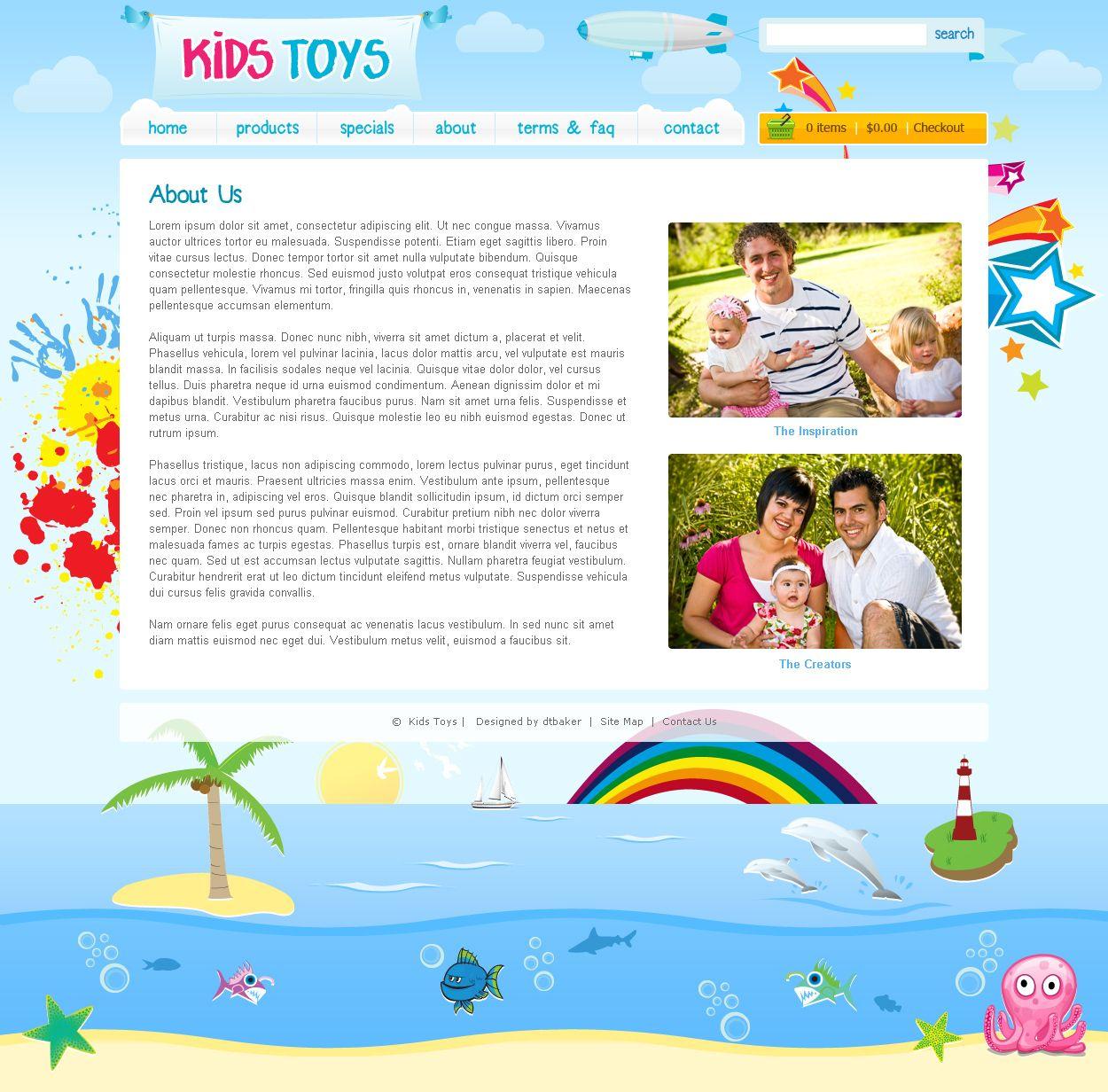 Kids Toys Psd Template By Dtbaker Themeforest Children Web