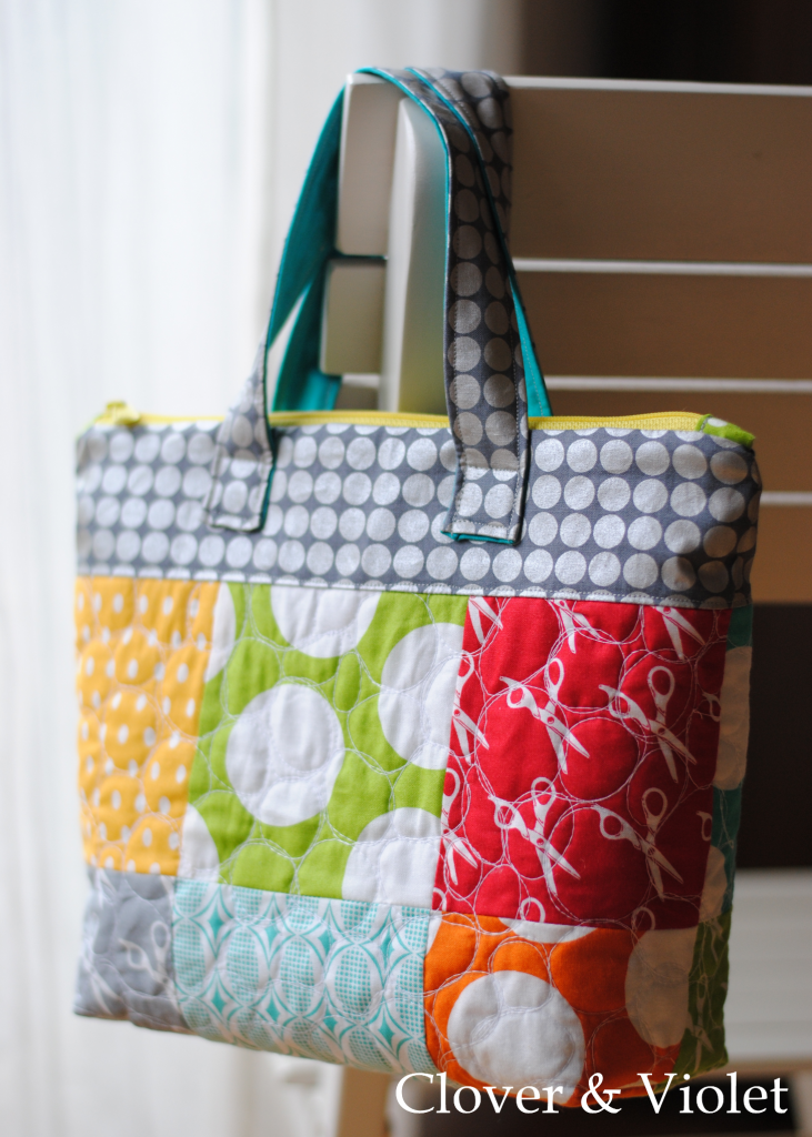 from Abbey Lane Quilts The MAXWELL BAG a HUGE SCRAPPY TOTE BAG TO SEW!