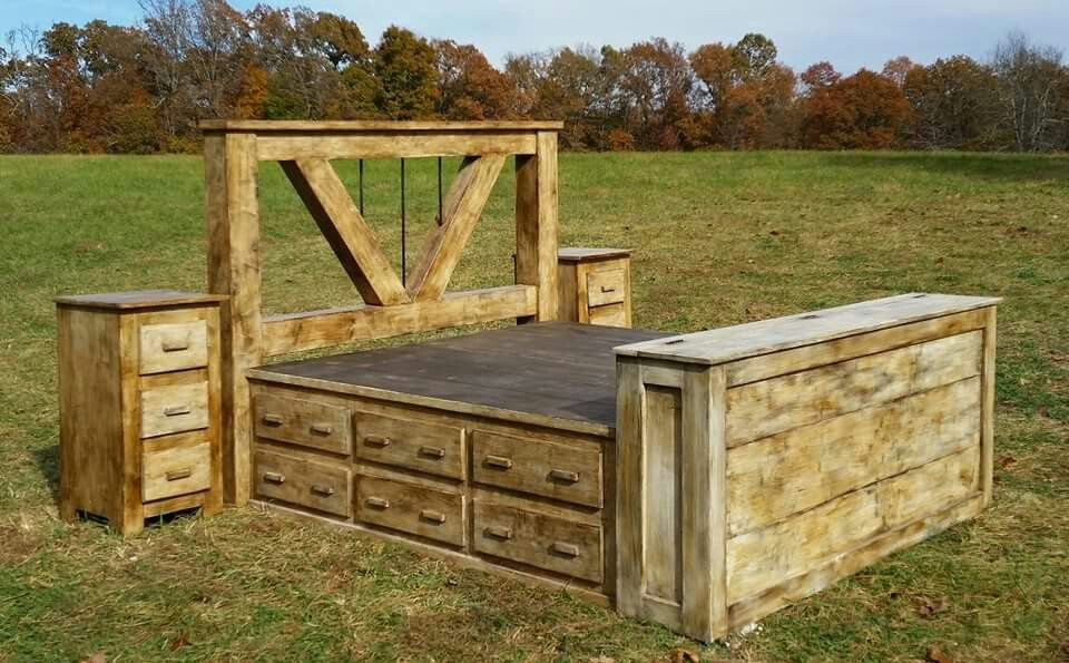 Beautiful hidden compartment bed frame http://www ...