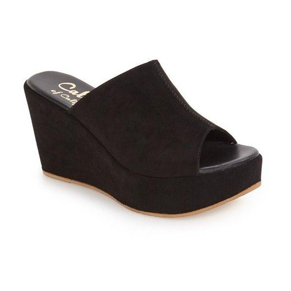 8b48fdbe550b Women s Callisto  Marlaa  Platform Wedge Slide Sandal ( 95) ❤ liked on  Polyvore