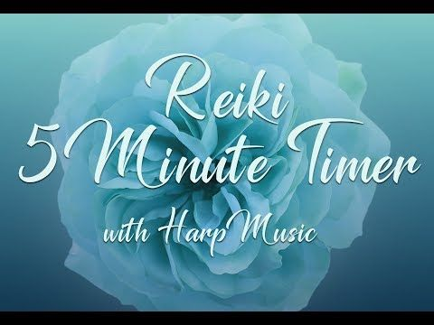 Reiki 5 Minute Timer With Harp Music And  Minute Bell Timers You