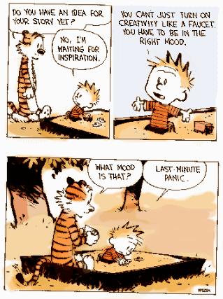The Creative Process True That Essay Writing Calvin Hobbes