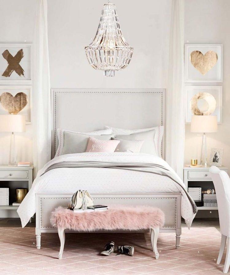 d co chambre fille ado en rose or et compagnie en quelques id es chics et inspirantes pink. Black Bedroom Furniture Sets. Home Design Ideas