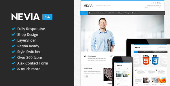 Nevia responsive html5 template template and progress bar nevia responsive html5 template wajeb Choice Image