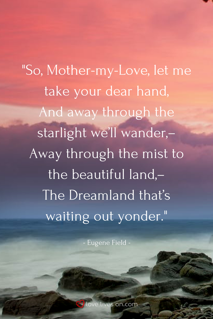 27 Best Funeral Poems for Mom   Eugene Field Poems   Funeral