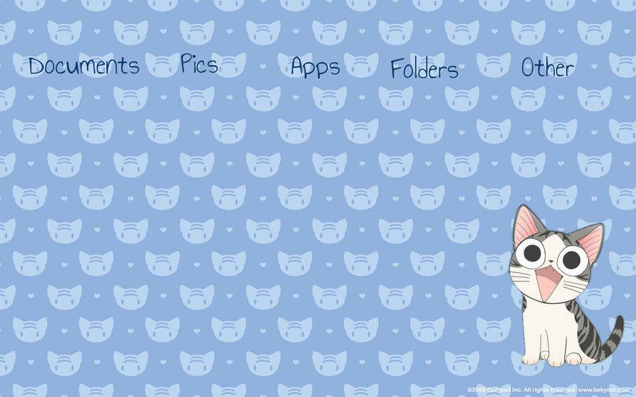 Kawaii Cat Organized Wallpaper By Kawaiiasi On Deviantart Cat Wallpaper Kawaii Wallpaper Kawaii Cat
