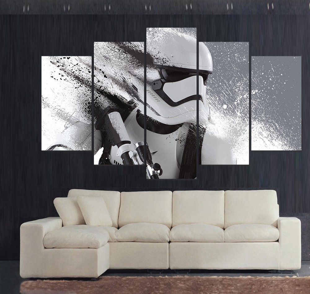living room art prints%0A Print Stormtrooper Star Wars Movie Modular Paintings On The Wall Modern  Home Decor Wall Art Poster Home Decor For Kids Room