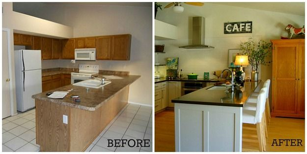 Delightful Kitchen Makeover: Before And After | Makeover Before And After, Mobile Home  Kitchens And Mobile Homes