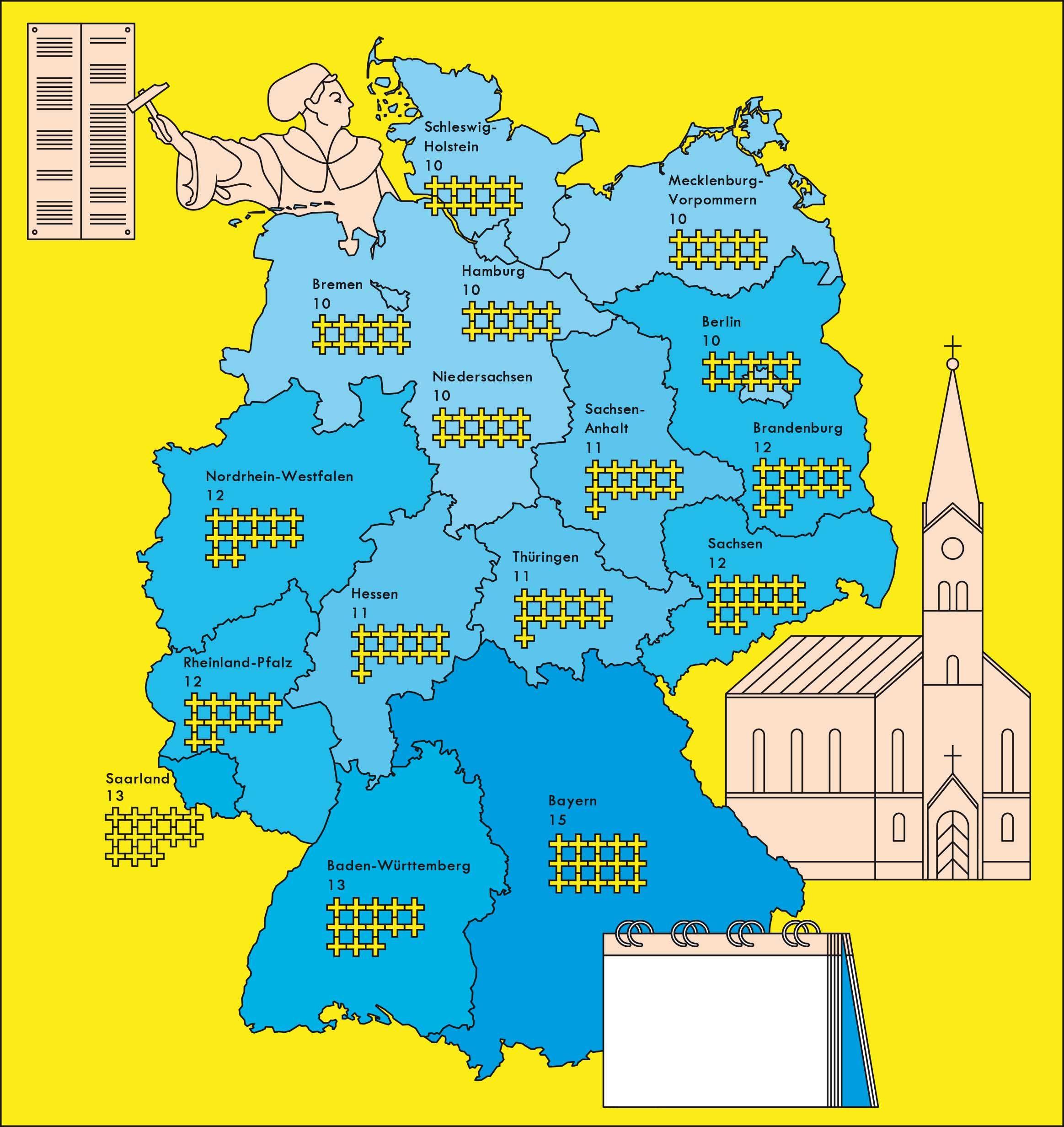 47 Feiertage In Deutschland Deutschland Wissenswertes