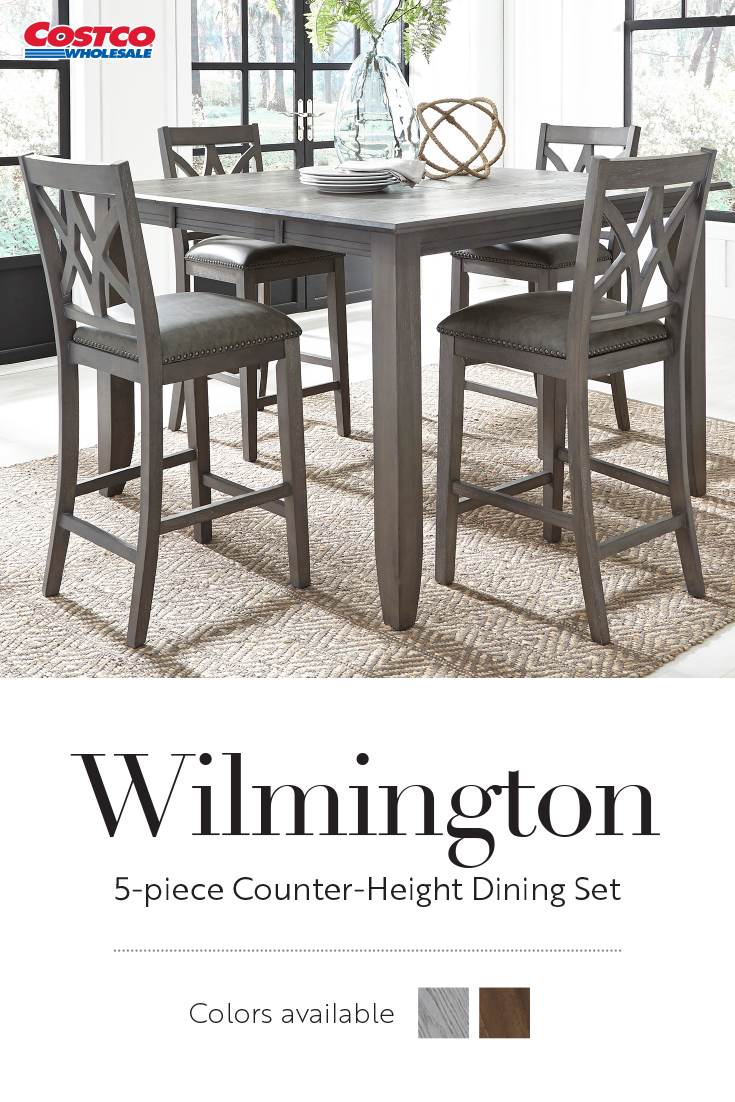 The Charming Wilmington 5 Piece Counter Height Dining Set Offers Easy Style And Function To Any Space Counter Height Dining Sets Dining Set Dining