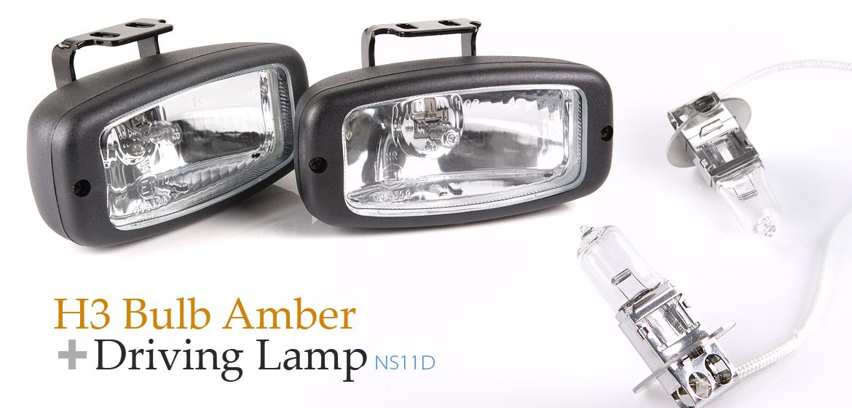 Bundle Sirius Ns11d Driving Lamps Lights Halogen Bulb H3 12v 55w Amber H3 Bulbs X Pair Lamp Light Halogen Bulbs Bulb
