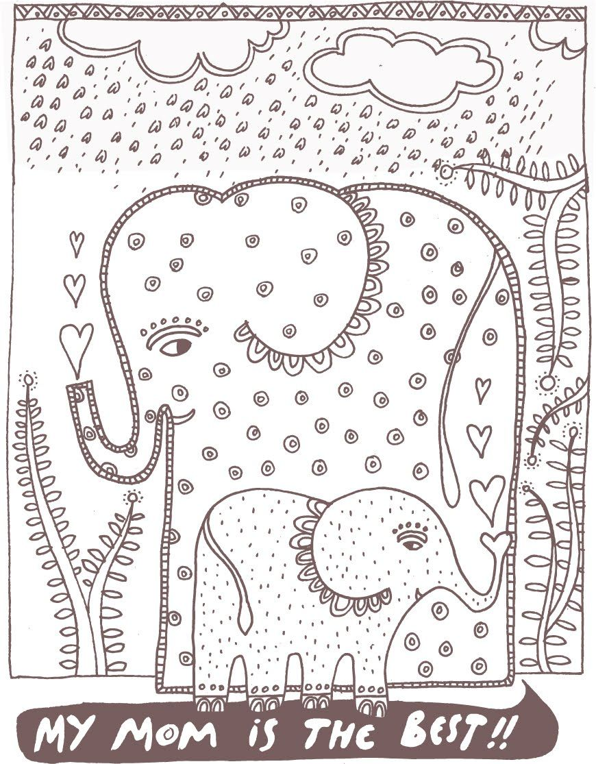 Wee Gallery Mother's Day Coloring Page Mothers day