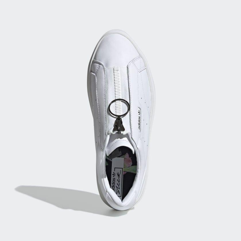 sello junio entregar  adidas Sleek Super Zip Shoes - White | adidas US | Shoes, White adidas,  Adidas