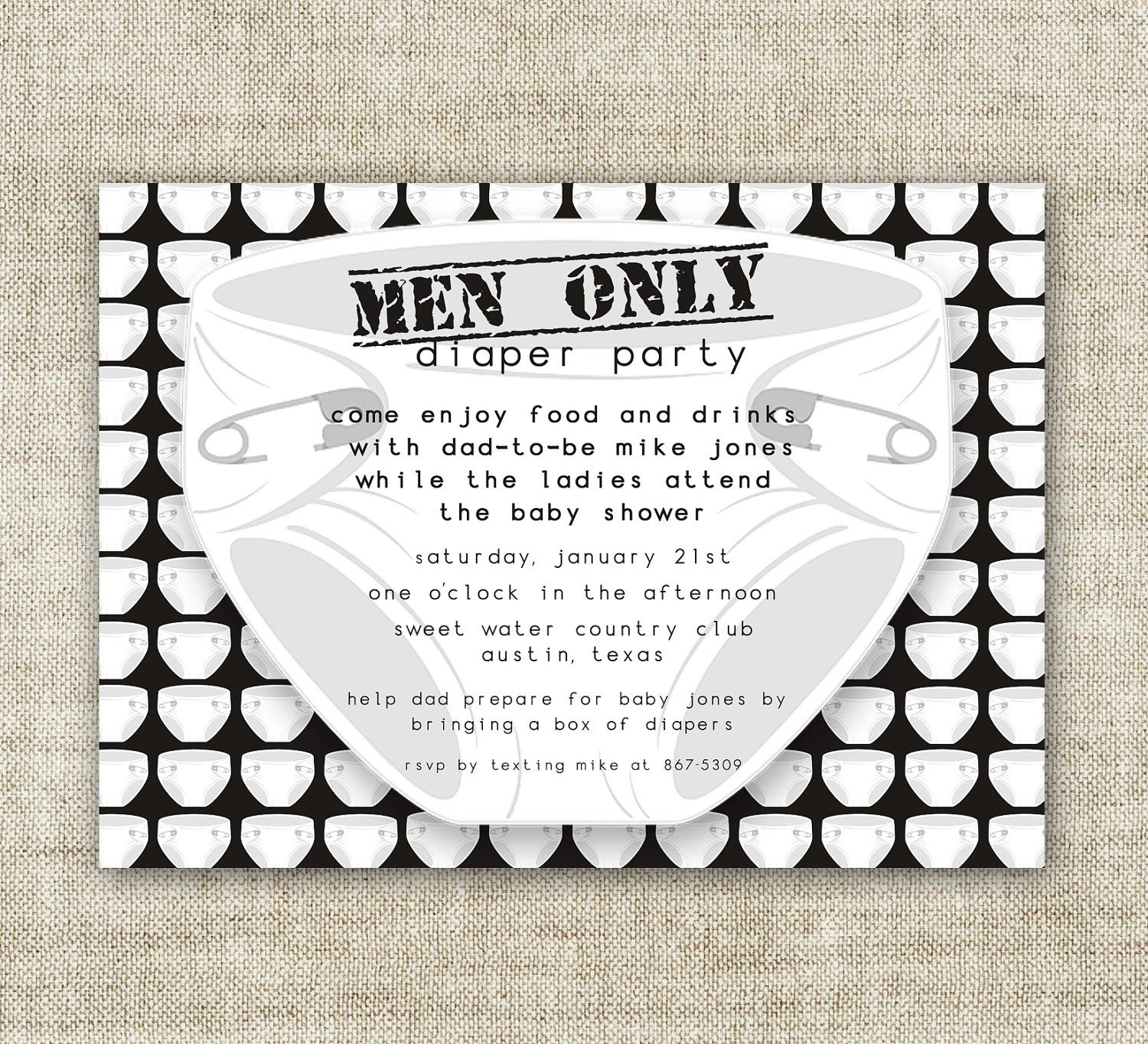Diaper Party, Men Only, Baby Shower Invitations, Chuggies And Huggies, Man  Baby Shower, Dad And Diapers, Printable, Personalized,   86569580