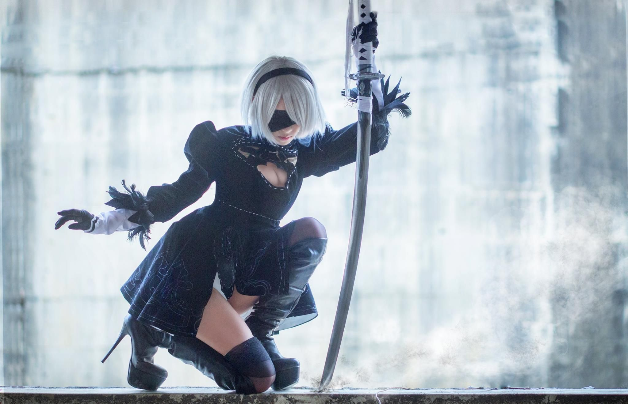 Premise Indicator Words: Hane Ame(Hane Ame) 2B Cosplay Photo