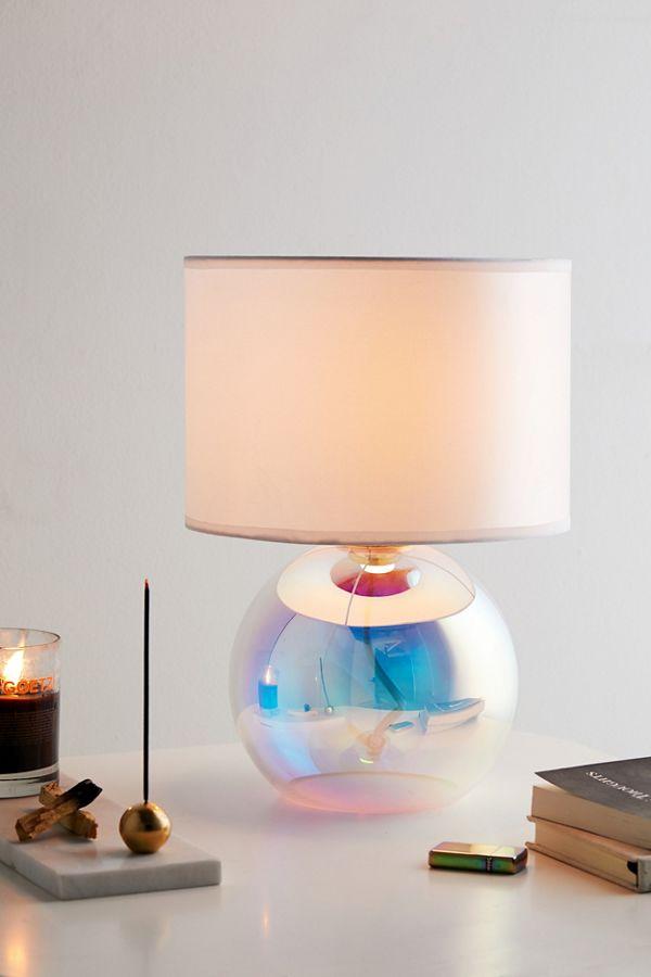 Iridescent Globe Table Lamp Modern Lamp Beautiful Lamp Room Lamp