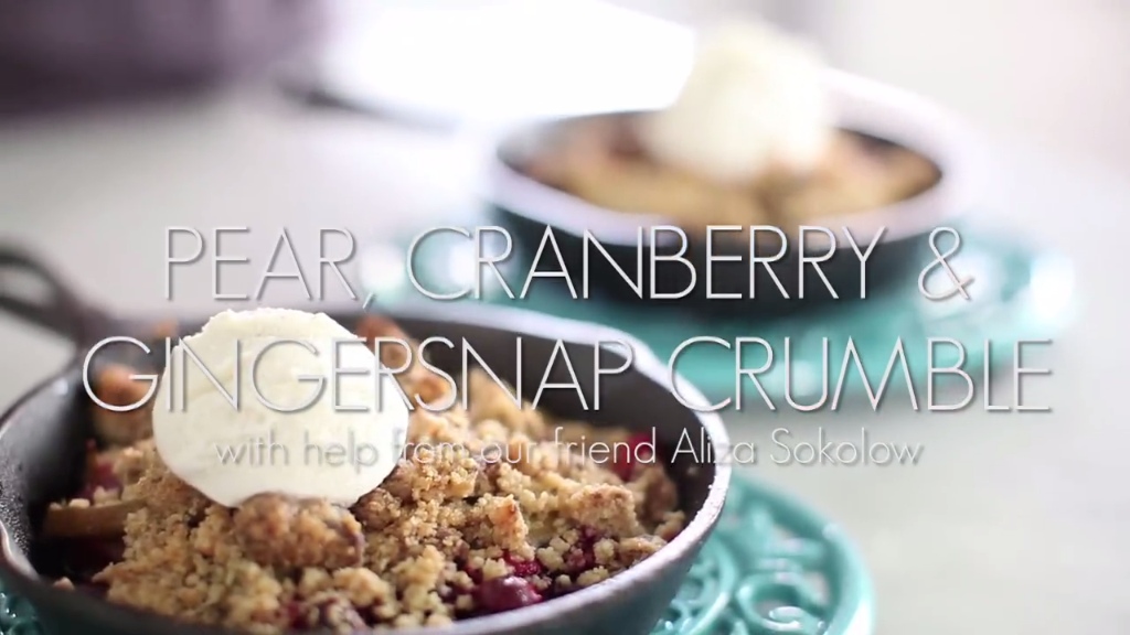 Pear, Cranberry & Gingersnap Crumble - Fresh, Fruity, and Almost ...