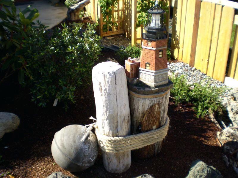 Nautical Garden Garden Makeover Nautical Themed Garden Ornaments Beach Theme Garden Garden Theme Outdoor Beach Decor