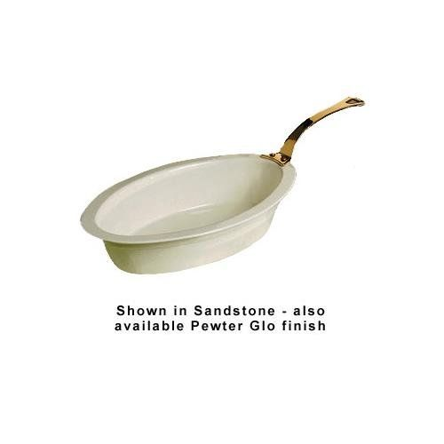 Bon Chef 5099HLP 7-qt Oval Casserole Dish, Long Brass Handle, Aluminum/Pewter-Glo, Each - http://cookware.everythingreviews.net/7602/bon-chef-5099hlp-7-qt-oval-casserole-dish-long-brass-handle-aluminumpewter-glo-each.html