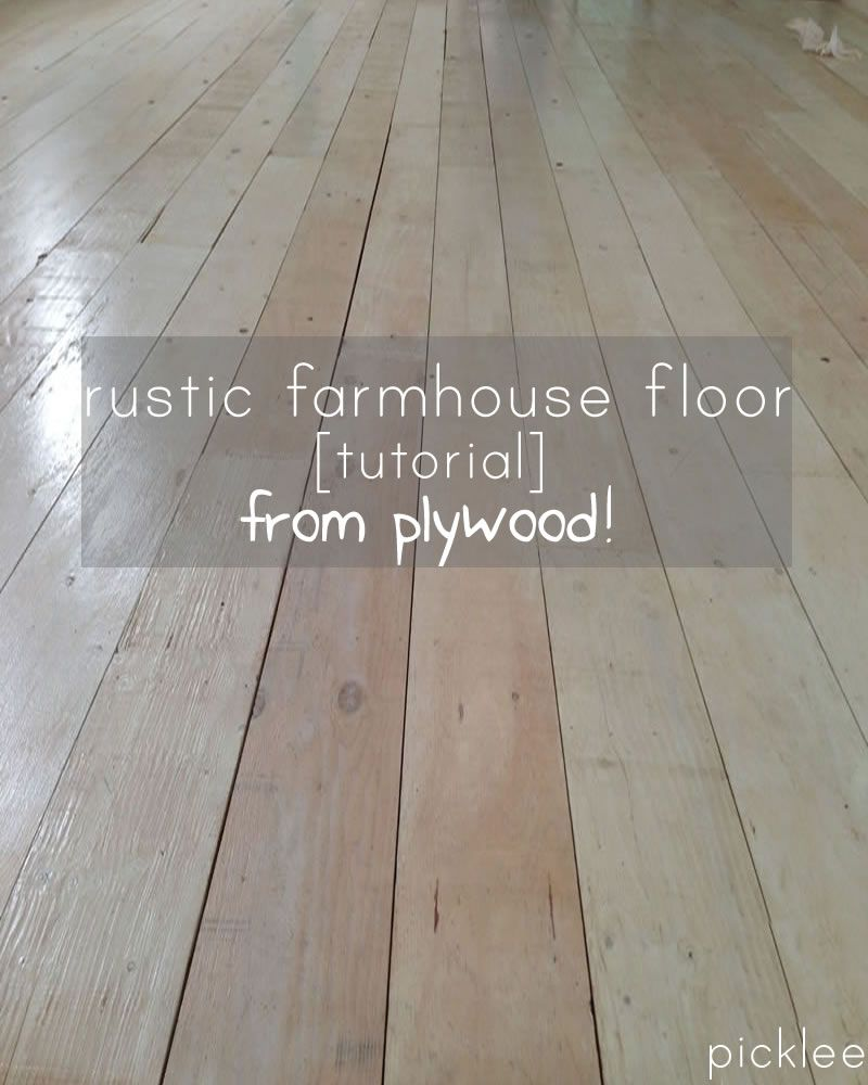 plywood-floor-tutorial..This sounds really great way to get an old ...
