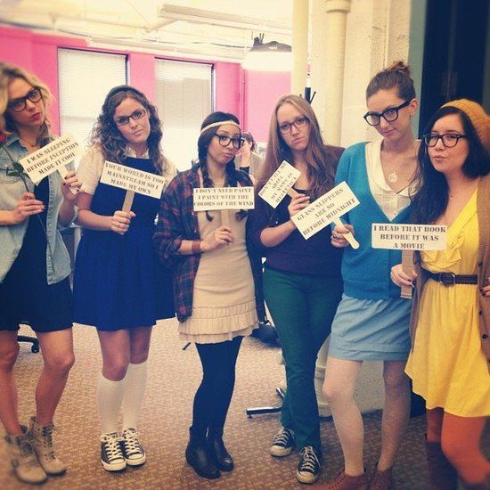 halloween costumes at the popsugar office hipster disney princess - Disney Princess Halloween Costumes Diy