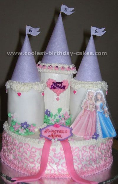 Coolest Castle Cakes and HowTo Tips Cake images Girl birthday