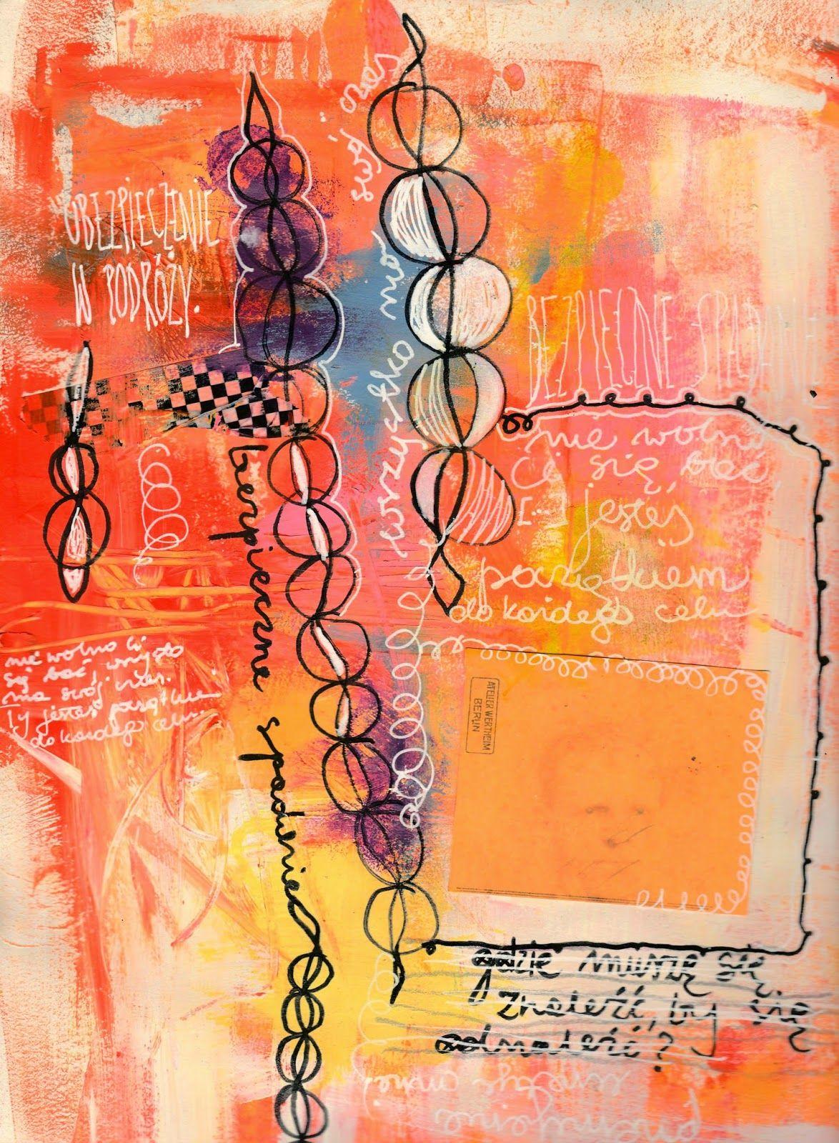 Czekoczyna - Kasia Krzyminska: Create without thinking - express art journal page + candy!