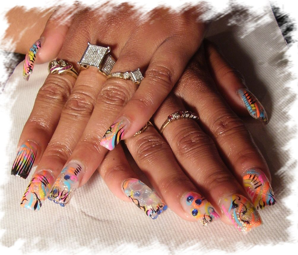 Ghetto Nail Designs | Nail Design Ideas With Full Caviar Ghetto Art Designs - Ghetto Nail Designs Nail Design Ideas With Full Caviar Ghetto Art