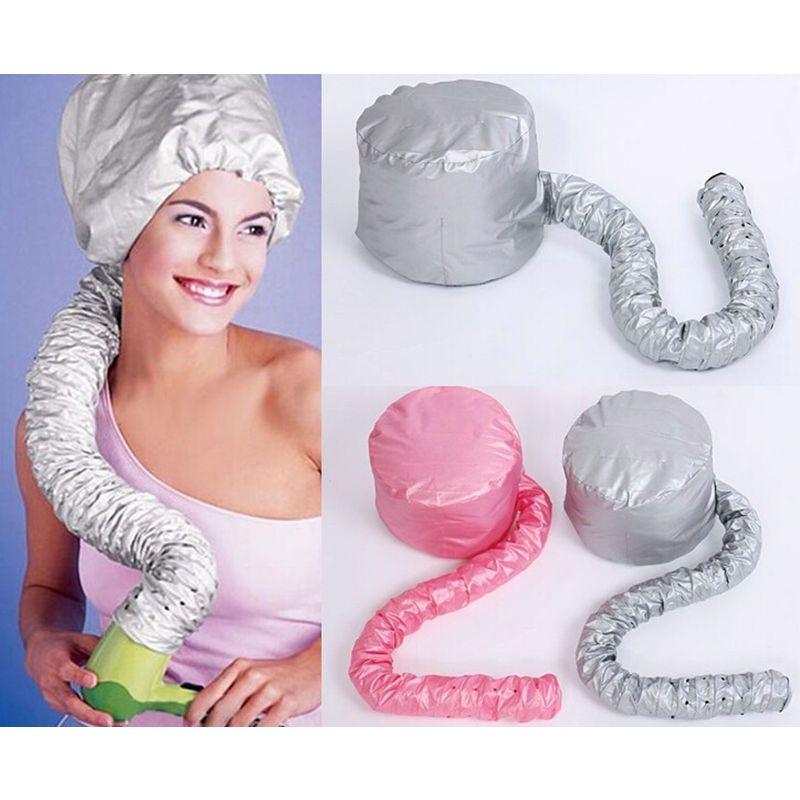 1 stücke Frauen Föhn Weiche Kapuze Haube Befestigung Haarpflege Haar Kappe Salon Friseur Dampfer Hause Barber Styling Hut