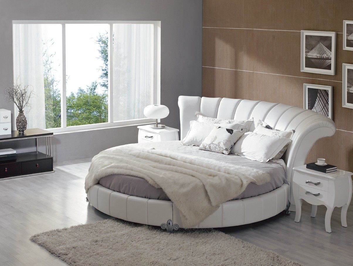 Stylish Leather Modern Contemporary Bedroom Designs With Round Bed Bedroom Ideas Pinterest
