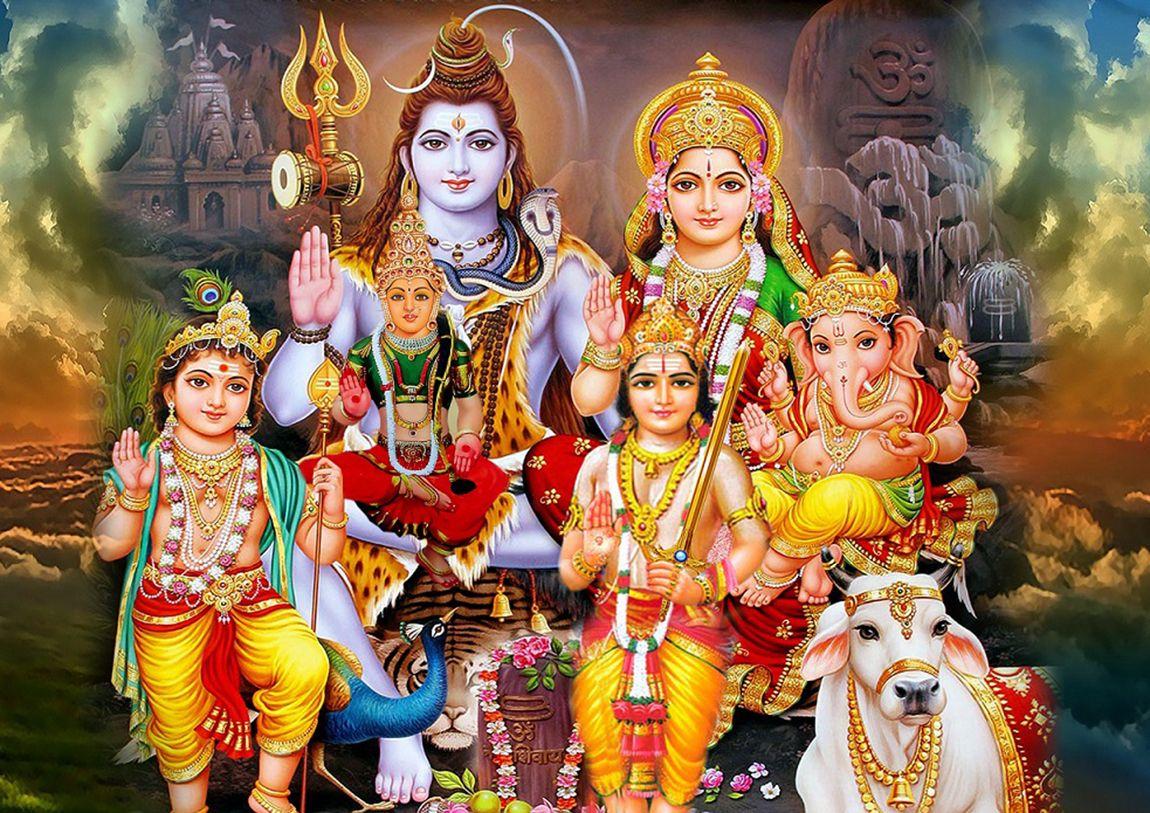 Download Full Size Shiv Parivar Wallpapers Shiv Parivar शव