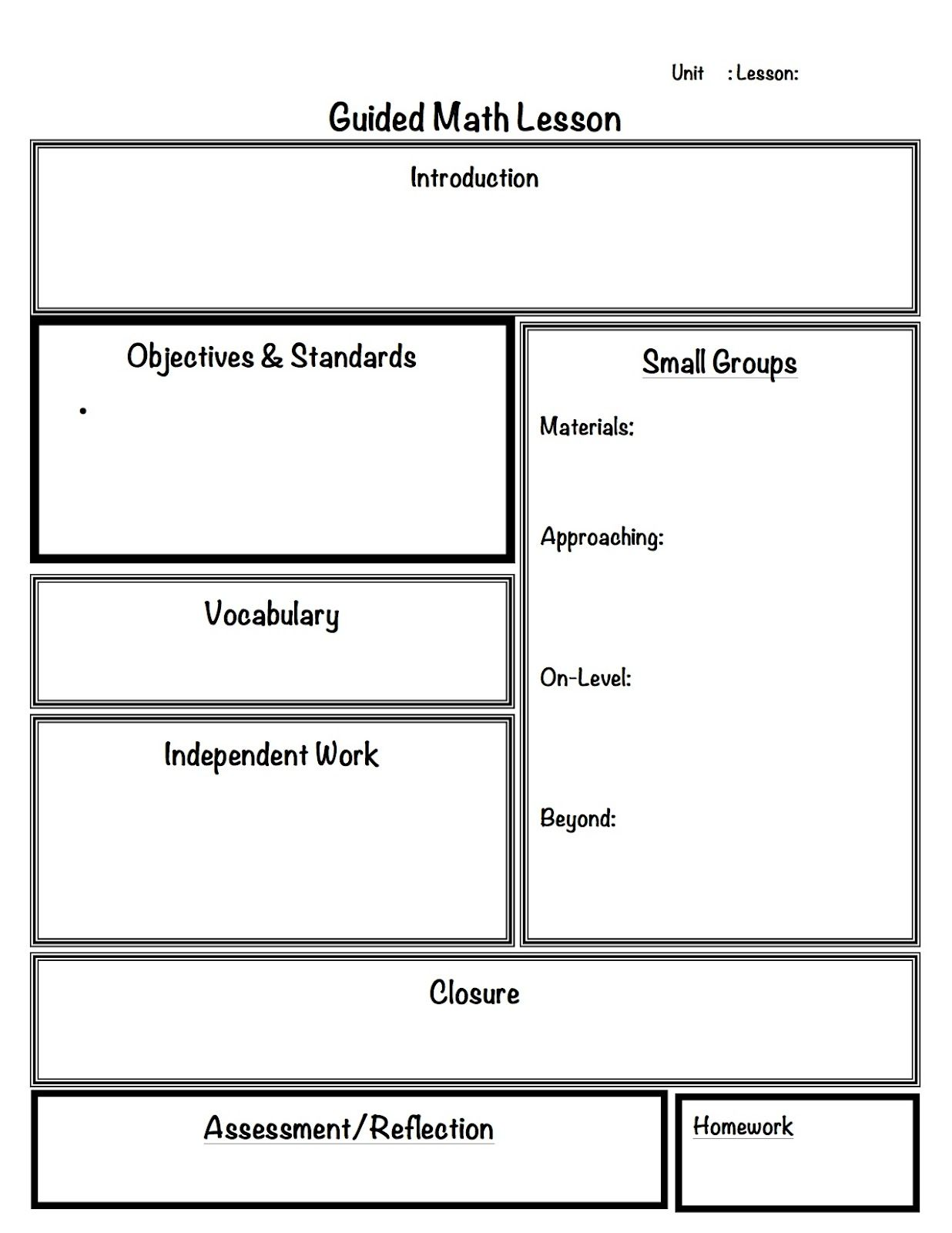 Like Most Of Us I Have A Variety Of Learners In My Classroom A - Kindergarten math lesson plan template